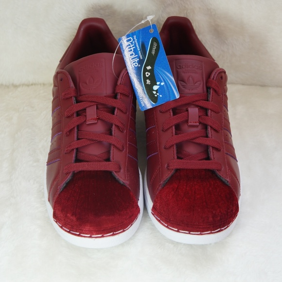 224762cfd5d6 adidas Superstar 80s Shoes Burgundy